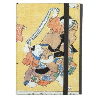 流行猫の狂言づくし, 国芳 Actors of The Cat, Kuniyoshi, Ukiyoe iPad Air Cover
