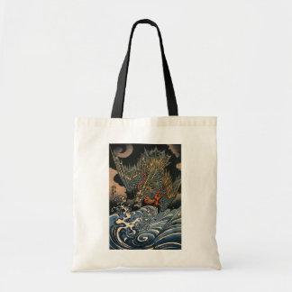 海龍, 国芳, dragón del mar, Kuniyoshi, Ukiyo-e Bolsa Tela Barata