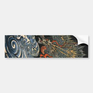 海龍, 国芳, Sea Dragon, Kuniyoshi, Ukiyo-e Bumper Stickers