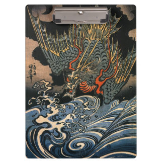 海龍, 国芳, Sea Dragon, Kuniyoshi, Ukiyo-e Clipboard