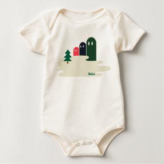 湖の不思議な生き物Delta01typeB かわいい子供服 Baby Bodysuit