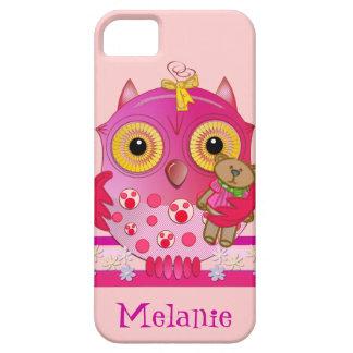 漫画の赤ん坊のフクロウ及び名前のかわいいiphone 5ケース iPhone SE/5/5s case