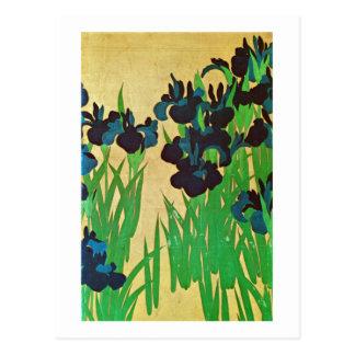 燕子花図(部分), 光琳 Irises(detail), Kōrin, Japan Art Postcard