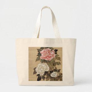 牡丹, 其一 Peony, Kiitsu, Japan Art Large Tote Bag