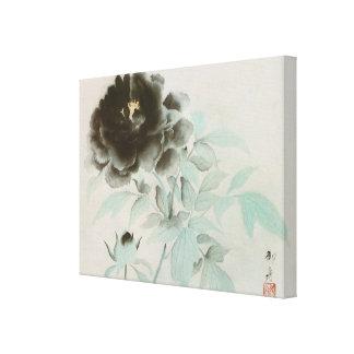 牡丹, 速水御舟 Peony, Gyoshū, Jpanese Art Canvas Print