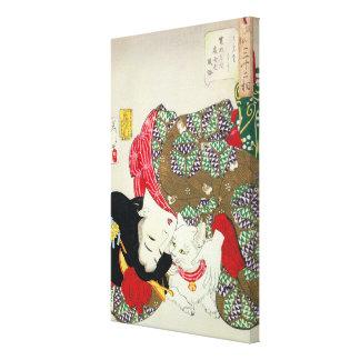 猫が好き, 芳年 I Love Cats, Yoshitoshi, Ukiyo-e Canvas Print