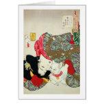 猫が好き, 芳年 I Love Cats, Yoshitoshi, Ukiyo-e Greeting Card