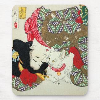 猫が好き, 芳年 I Love Cats, Yoshitoshi, Ukiyo-e Mouse Pad