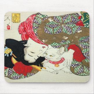猫が好き 芳年 I Love Cats Yoshitoshi Ukiyo-e Mouse Pads