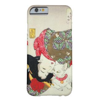 猫が好き, gatos del amor del 芳年 I, Yoshitoshi, Ukiyo-e Funda De iPhone 6 Barely There