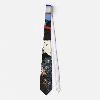 猫と女, 国芳 Cat and Woman, Kuniyoshi, Ukiyoe Tie