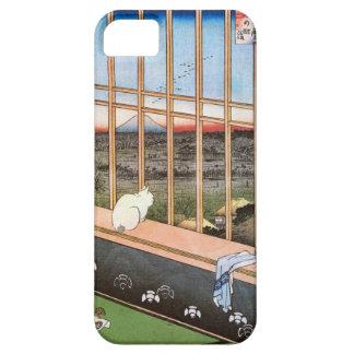 猫と富士山, 広重 Cat and Mount Fuji, Hiroshige, Ukiyo-e iPhone SE/5/5s Case
