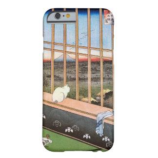 猫と富士山, gato y el monte Fuji, Hiroshige, Ukiyo-e Funda De iPhone 6 Barely There