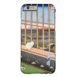 猫と富士山, gato y el monte Fuji, Hiroshige, Ukiyo-e Funda Para iPhone 6 Barely There