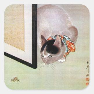 猫と蜘蛛, 東皐 Cat and Spider, Toko Square Sticker