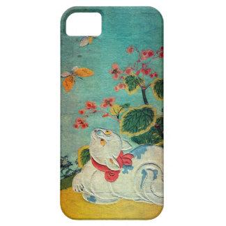 猫と蝶, 春信 Cat and Butterfly, Harunobu, Ukiyo-e iPhone 5 Case