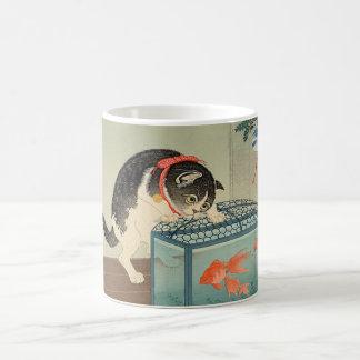 猫と金魚, 古邨 Cat & Goldfish, Koson, Ukiyo-e Coffee Mug