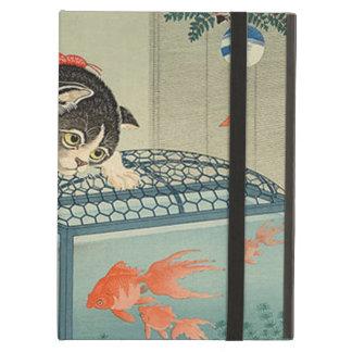 猫と金魚, 古邨 Cat & Goldfish, Koson, Ukiyo-e iPad Air Cases