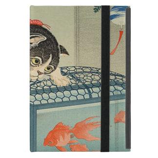 猫と金魚, 古邨 Cat & Goldfish, Koson, Ukiyo-e iPad Mini Cases