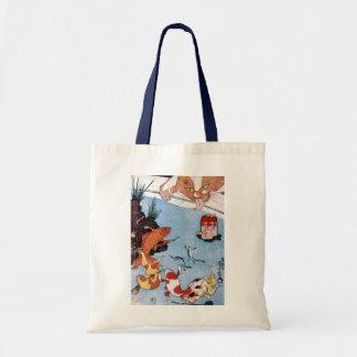 猫と金魚, 国芳 Cat and Goldfish, Kuniyoshi, Ukiyo-e Tote Bags