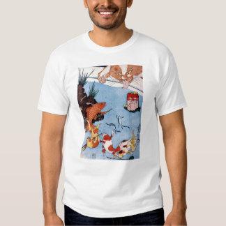 猫と金魚, 国芳 Cat and Goldfish, Kuniyoshi, Ukiyo-e Tshirt