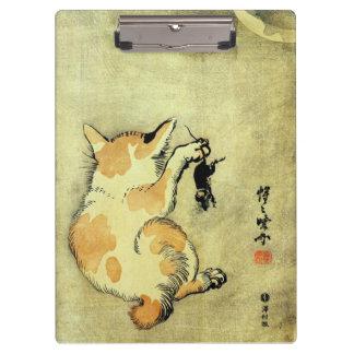 猫と鼠, 暁斎 Cat and Mouse, Kyōsai, Ukiyo-e Clipboard