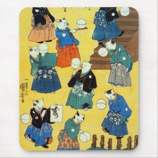 猫の曲芸師, 国芳 Acrobat of the Cats, Kuniyoshi, Ukiyo-e Mouse Pad