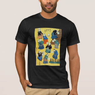 猫の曲芸師, 国芳 Acrobat of the Cats, Kuniyoshi, Ukiyo-e T-Shirt