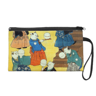 猫の曲芸師, 国芳 Acrobat of the Cats, Kuniyoshi, Ukiyo-e Wristlet