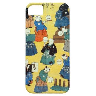 猫の曲芸師, acróbata de los gatos, Kuniyoshi, Ukiyo-e d iPhone 5 Case-Mate Cobertura