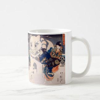 猫の雪だるま,国芳 Snowman of big Cat, Kuniyoshi, Ukiyo-e Coffee Mug