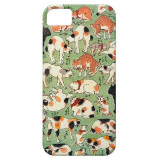 猫尽両めん合, 芳藤 Cats of The Edo era, Yoshifuji, Ukiyo-e iPhone SE/5/5s Case