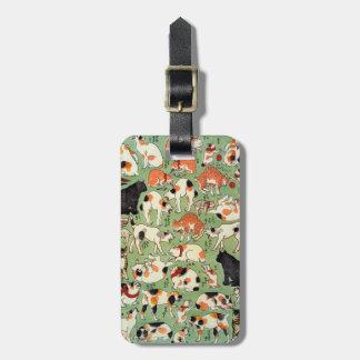 猫尽両めん合, 芳藤 Cats of The Edo era, Yoshifuji, Ukiyo-e Travel Bag Tags