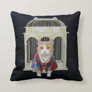 猫 (Cat) American MoJo Pillow