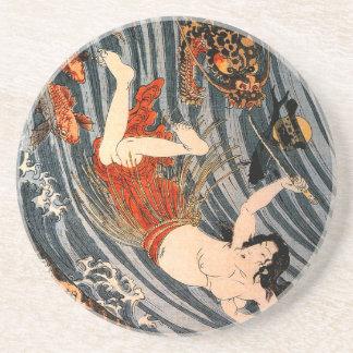 玉取姫 costa de princesa Jewel Taker Tamatori-hime Posavasos Diseño