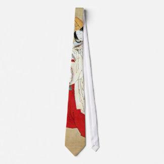白拍子, 北斎 Shirabyōshi Dancer, Hokusai, Ukiyo-e Neck Tie