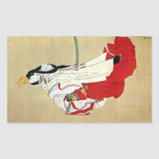 白拍子, 北斎 Shirabyōshi Dancer, Hokusai, Ukiyo-e Rectangular Sticker