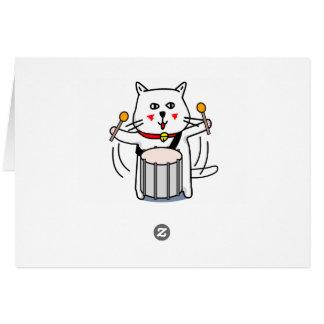 白猫のネコ先輩 パーカッション CARD