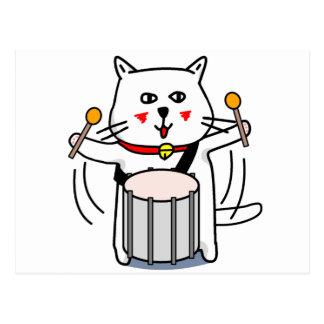 白猫のネコ先輩 パーカッション POSTCARD