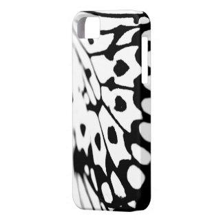 白黒蝶プリントのiPhone 5の箱 iPhone 5 Case