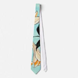 百合, lirio del 北斎, Hokusai, Ukiyo-e Corbatas Personalizadas