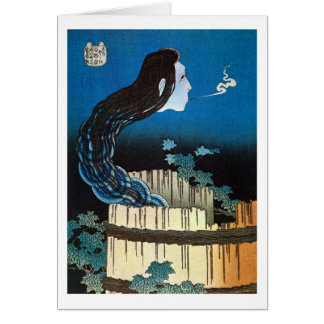 皿の幽霊, 北斎 Ghost of The Dish, Hokusai, Ukiyoe Card
