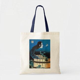 皿の幽霊, 北斎 Ghost of The Dish, Hokusai, Ukiyoe Tote Bag