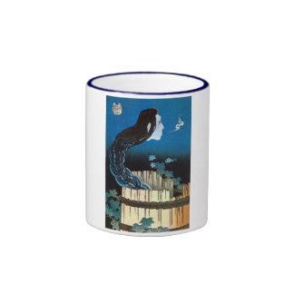 皿の幽霊, fantasma del plato, Hokusai, Ukiyoe del 北斎 Taza De Café