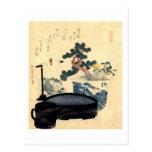 盆栽, 北斎 Bonsai, Hokusai, Ukiyo-e Postcards