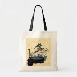 盆栽, 北斎 Bonsai, Hokusai, Ukiyo-e Tote Bag
