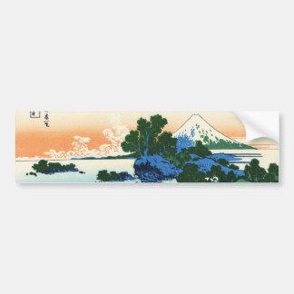 相州七里浜,北斎 View Mt.Fuji from Shichirigahama, Hokusai Bumper Sticker