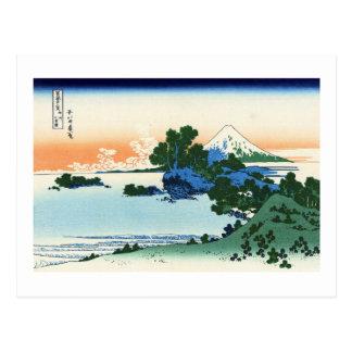 相州七里浜,北斎 View Mt.Fuji from Shichirigahama, Hokusai Postcard