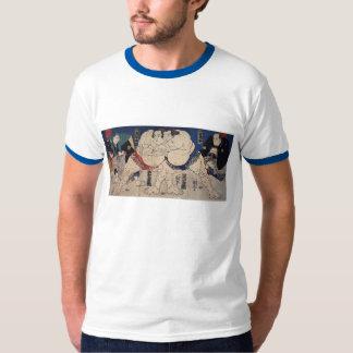 相撲, 国芳 Sumo Wrestling, Kuniyoshi, Ukiyo-e T-Shirt