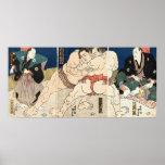 相撲, 国貞 Smou que lucha, Kunisada Impresiones